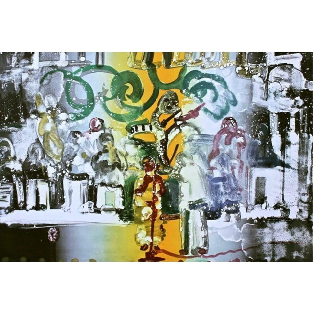 Surrealism Romare Bearden Introduction for a Blues Queen 1979 For Sale - Image 3 of 3