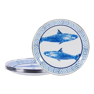 Sandwich Plates Fish Camp - Set of 4 For Sale