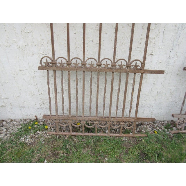 Antique Victorian Iron Gate Architectural Salvage Door - Image 6 of 7