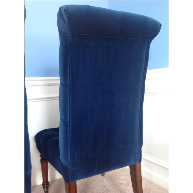 Barclay Butera Velvet Tufted Dining Chairs - Pair - Image 7 of 8