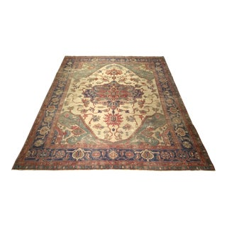Late 19th Century Antique Serapi Rug - 7′10″ × 9′11″ For Sale