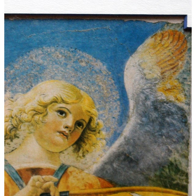 Late 20th Century Print of Angel With Violin, Fresco Fragment For Sale - Image 4 of 6