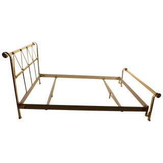 Full Size Brass Bed by Mauro Lipparini Made in Italy For Sale