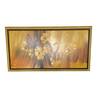 1970s Mid Century Studio Butterfly Art For Sale