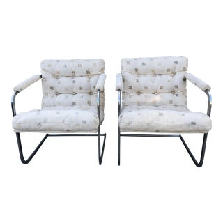 20th Century Chrome Scoop Chairs - a Pair For Sale