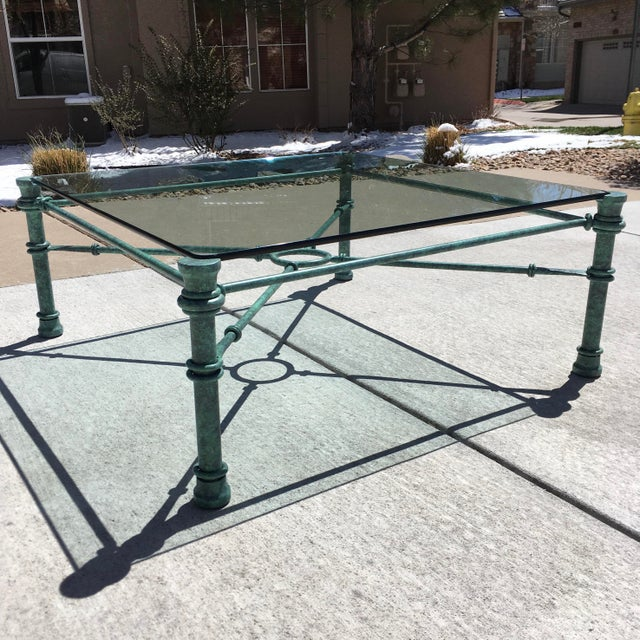 Mid-Century Modern Mid-Century Modern Wrought Iron Coffee Table After Giacometti For Sale - Image 3 of 12