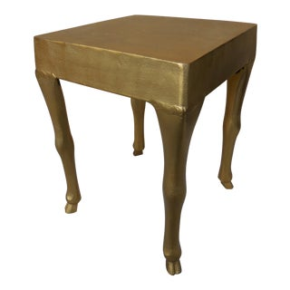 Contemporary Gilt Iron Hoof Table For Sale