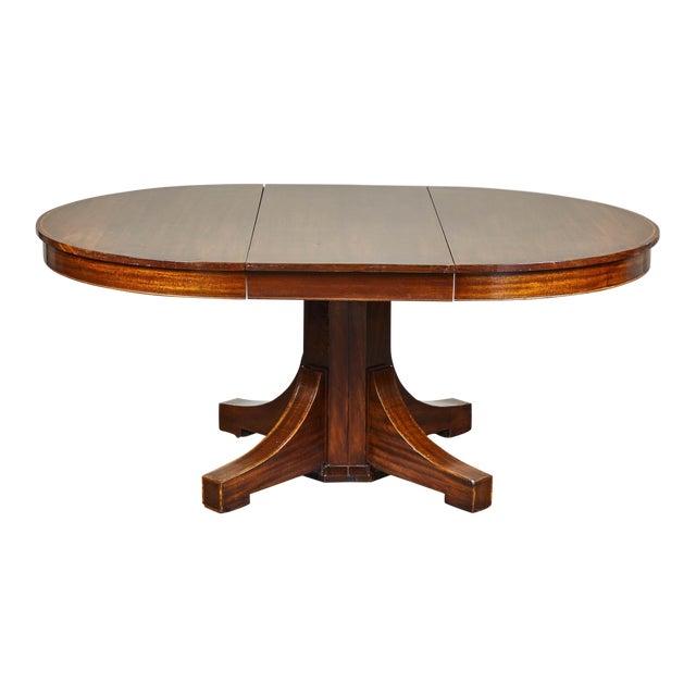19th C. English Mahogany Pedestal Table For Sale