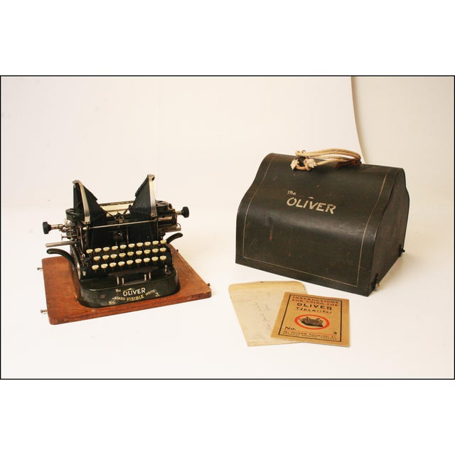 Vintage Oliver No 3 Typewriter With Case & Instructions - Image 2 of 11