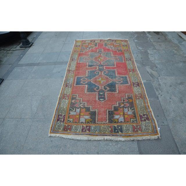 Antique Turkish Oushak Rug - 4′ × 8′1″ - Image 2 of 7