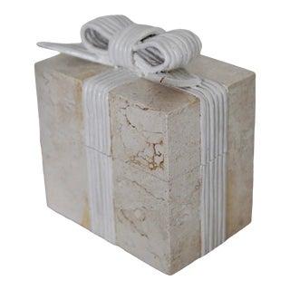 Vintage Renoir Design Tessellated Stone Box For Sale