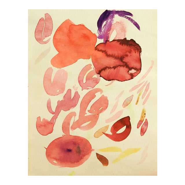 Abstract Floral Study Watercolor PAinting For Sale