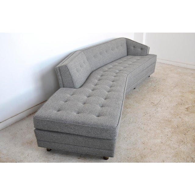 Gold Harvery Probber Large Angled One-Arm Sofa For Sale - Image 8 of 11