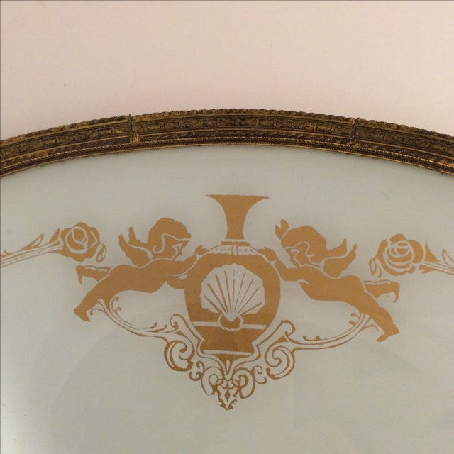 Cherub and Rose Stenciled Serving Tray - Image 3 of 8