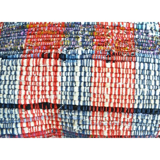"""Turkish 16"""" Pillow Cover Vintage Handmade Cotton Ragrug Kilim Sham Throw For Sale - Image 3 of 6"""