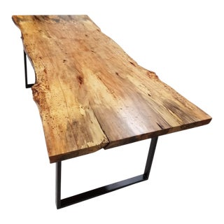 Live Edge Spalted Pecan Dining Table