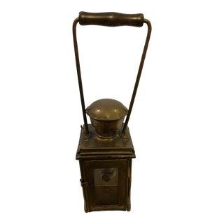 Antique Brass Lantern For Sale