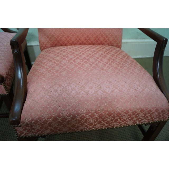 Antique 1930 Chippendale Armchairs - A Pair - Image 8 of 10