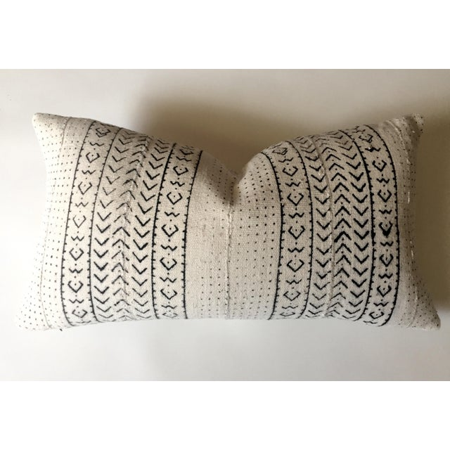 White & Black Mudcloth Pillow Cover - Image 2 of 9