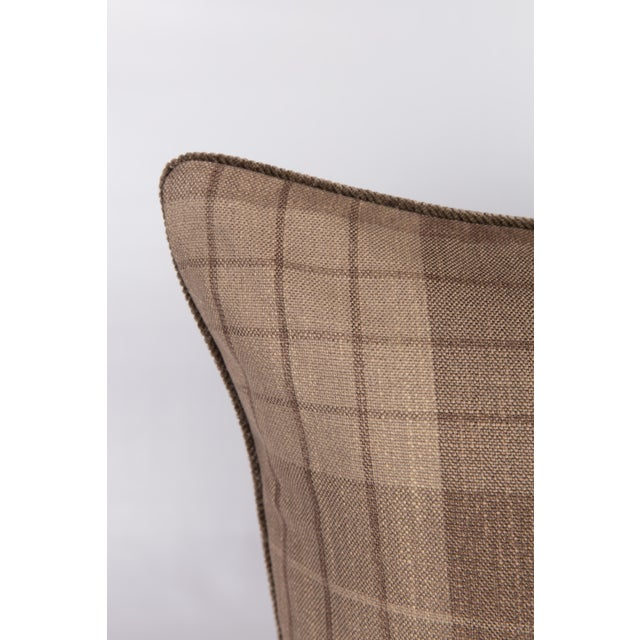 Plaid & Velvet Whittington Pillows - A Pair - Image 2 of 5