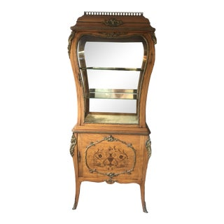 19th Century Edwardian Curio Vitrine Display Cabinet For Sale