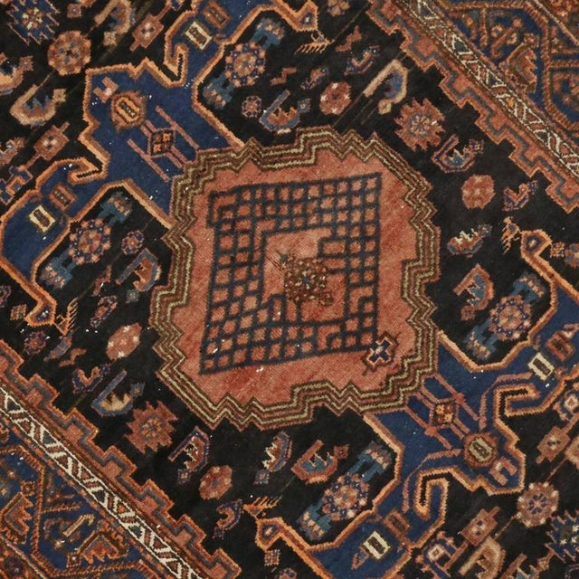 Antique Persian Hamadan Rug with Modern Tribal Style For Sale - Image 5 of 7