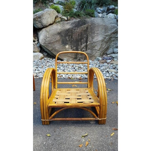 Vintage Paul Frankl Style Rattan Furniture - Set of 5 - Image 4 of 9