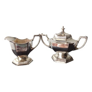 Silver Cream & Sugar Servers For Sale
