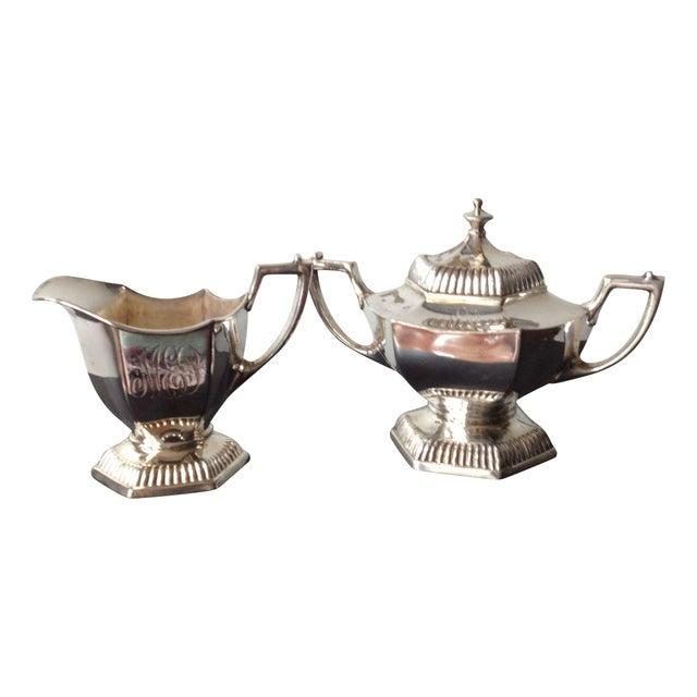 Silver Cream & Sugar Servers - Image 1 of 8