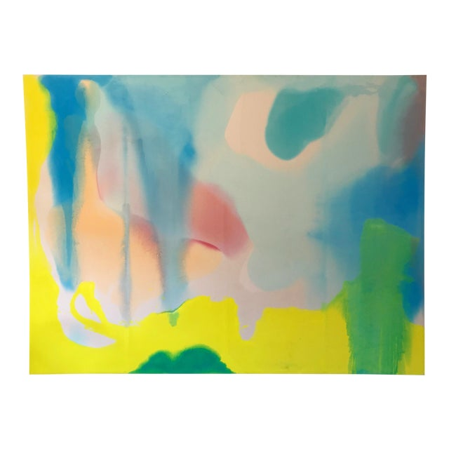Massive Oil on Canvas Abstract Color Field Painting For Sale