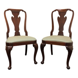 Baker Historic Charleston Solid Mahogany Queen Anne Dining Side Chairs - Pair 1 For Sale