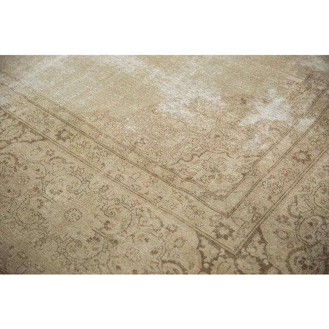 """Vintage Distressed Tabriz Carpet - 9' X 12'9"""" For Sale - Image 10 of 13"""