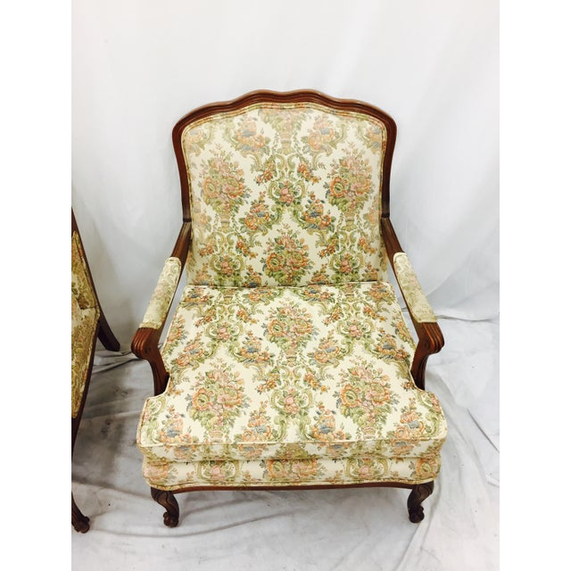 Vintage French Style Arm Chairs - A Pair - Image 10 of 11