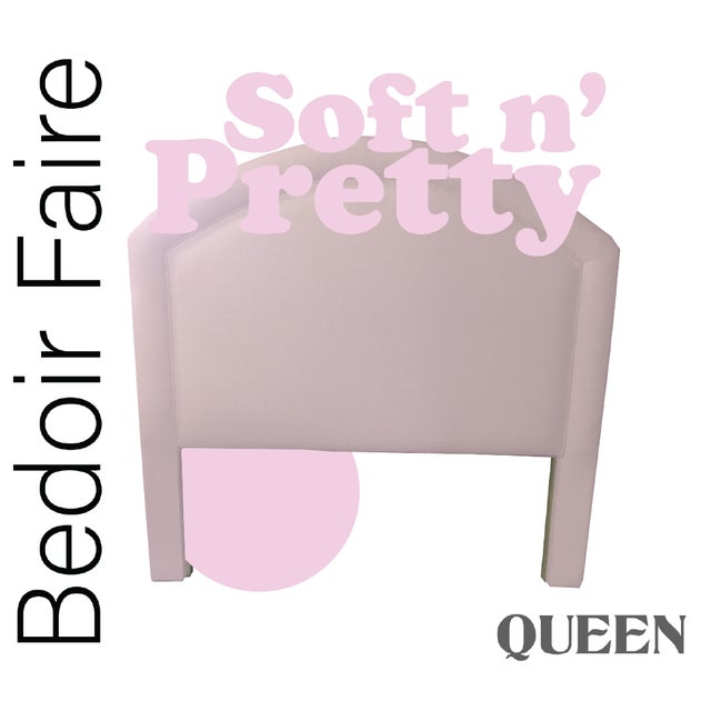 "Contemporary Custom to Order ""Bedoir Faire"" Collection Headboard Soft N' Pretty Hues For Sale - Image 3 of 12"