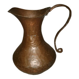 Middle Eastern Copper Pitcher For Sale