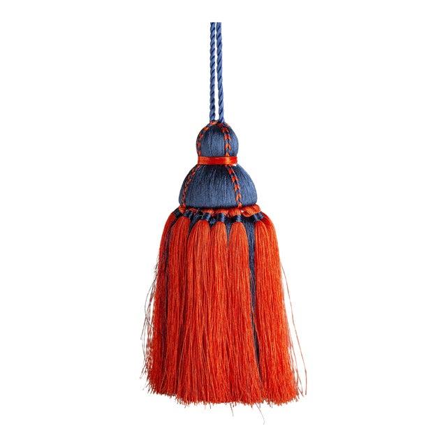 Navy & Orange Tassel, Medium For Sale