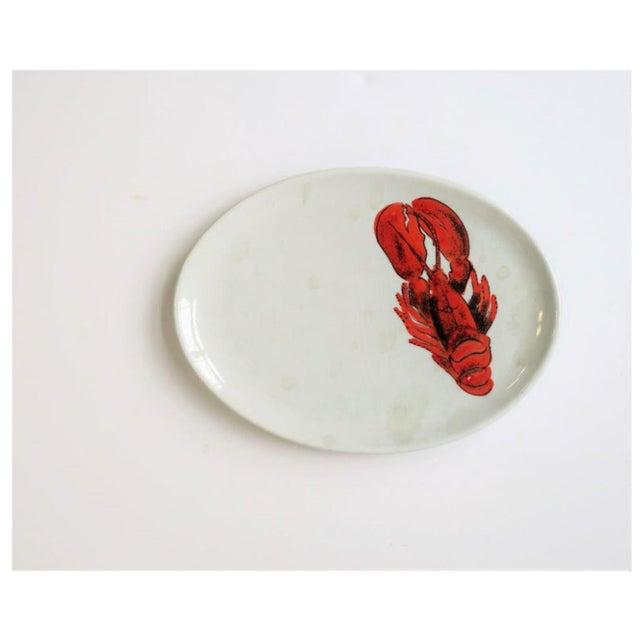 Metal Vintage Designer Italian Lobster Plates With Forks From Sweden - Set of 6 For Sale - Image 7 of 13