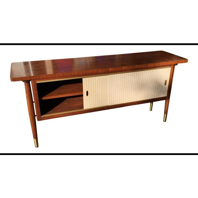 1960s Mid Century Modern Buffet Credenza Storage Table For Sale - Image 11 of 11