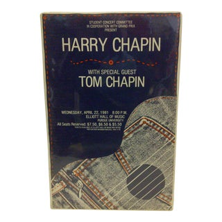 1981 Harry Chapin Purdue University Concert Poster For Sale