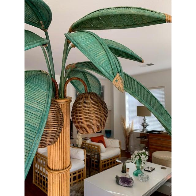 Mario Lopez Torres Mario Lopez Torres Rattan Palm Tree Floor Lamp For Sale - Image 4 of 10