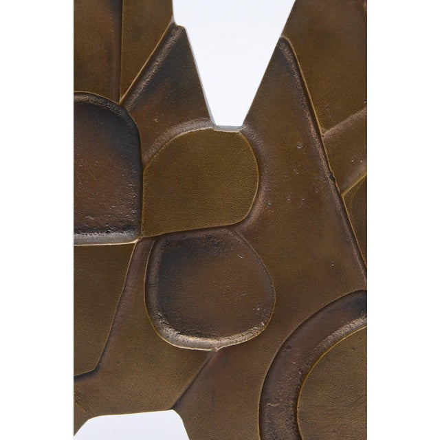 Signed Italian Consagra Abstract, Modernist and Cubist Bronze Sculpture - Image 8 of 10