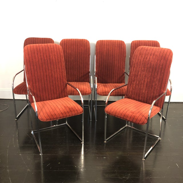 Milo Baughman for Dia High Back Dining Chairs- Set of 6 For Sale - Image 11 of 11