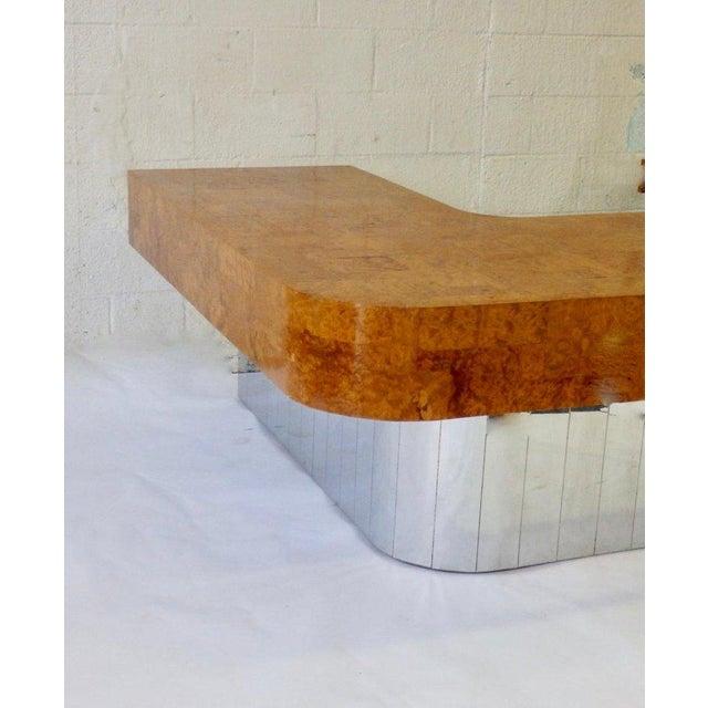 Paul Evans for Directional Burl Top City Scape Desk For Sale In Detroit - Image 6 of 9