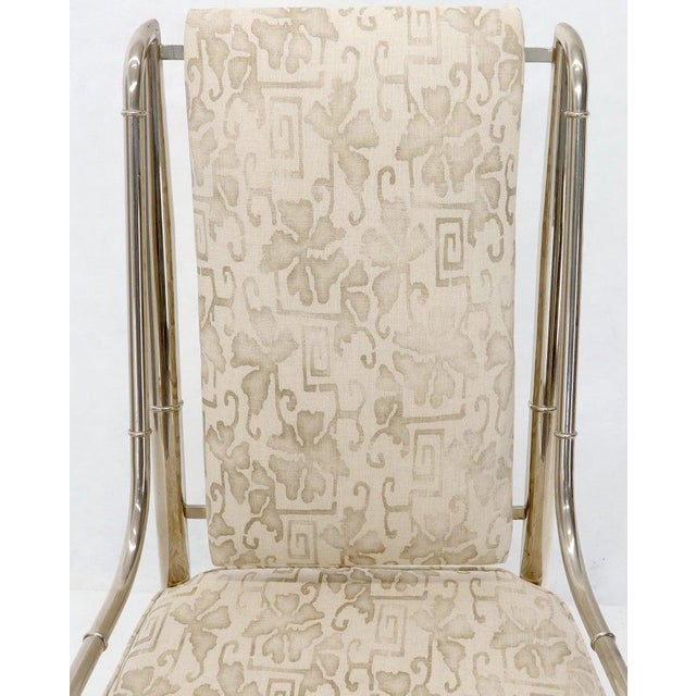 Imperial Dining Room Chair by Weiman / Warren Lloyd for Mastercraft in Chrome For Sale - Image 11 of 13