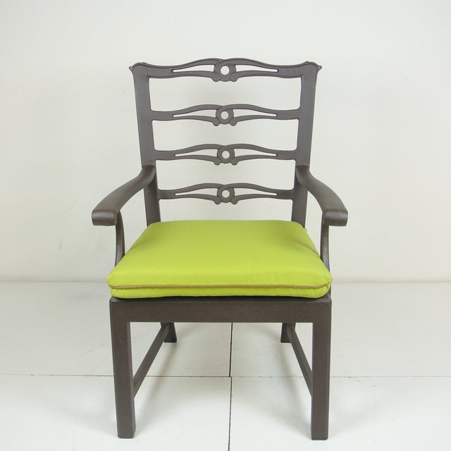 Terra Furniture Arlington Dining Chair & Custom Fit Cushion For Sale - Image 4 of 9