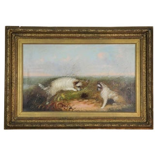 Late 19th Century Antique W. Warren Oil on Canvas Painting For Sale
