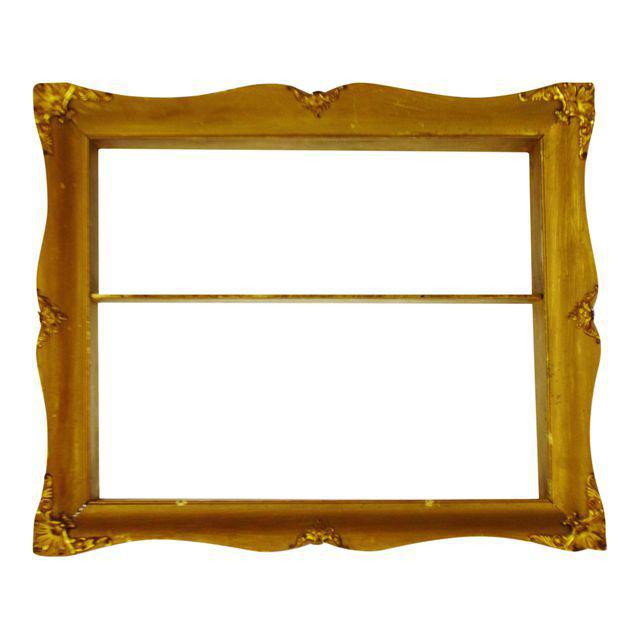 Early Gilt Gesso Shadow Box Wall Shelf with Brass Filigree Adornments For Sale - Image 11 of 11