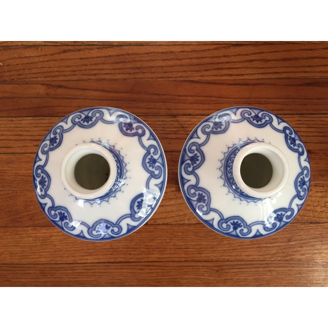 Blue and White Dragon Vases - Pair - Image 6 of 10