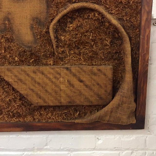 Textile 1970s Burlap Textile Art For Sale - Image 7 of 10