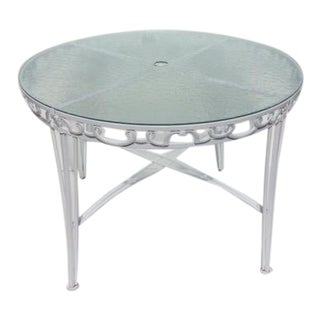 1960s French Metal Garden Table For Sale